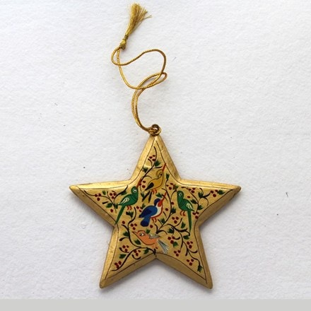 Gold star decoration - birds