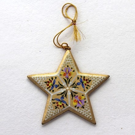 Gold star decoration - flowers