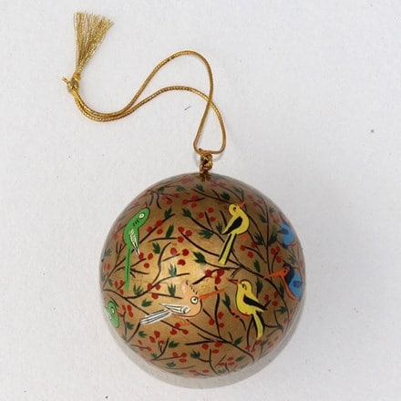Gold bauble - birds
