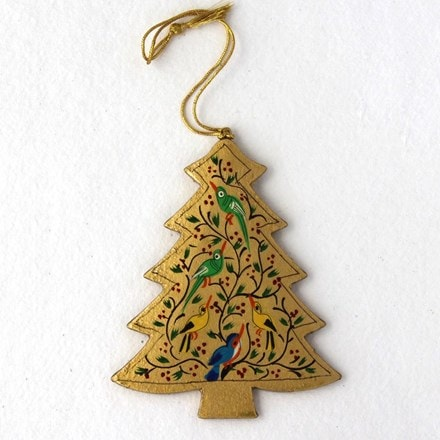 Gold tree decoration - birds