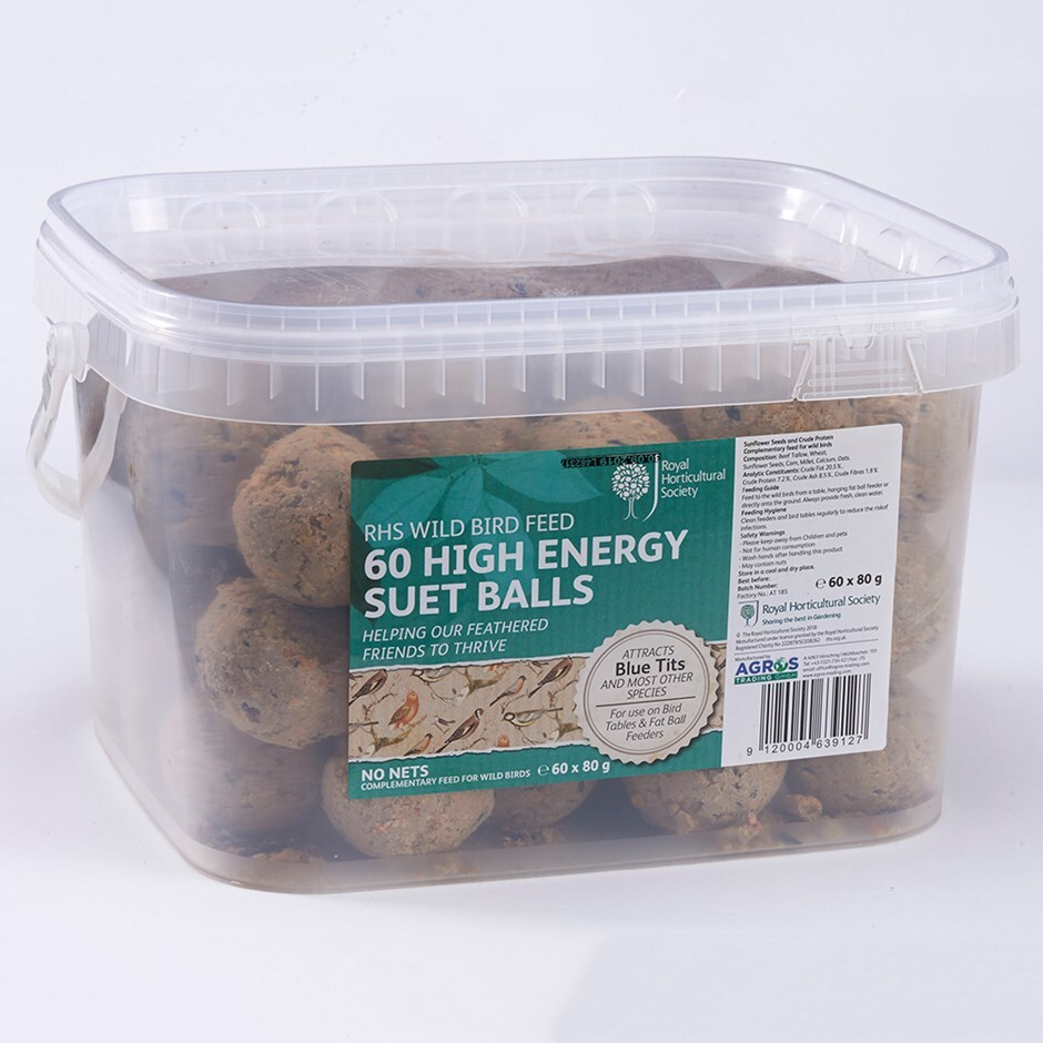RHS High energy suet balls - tub
