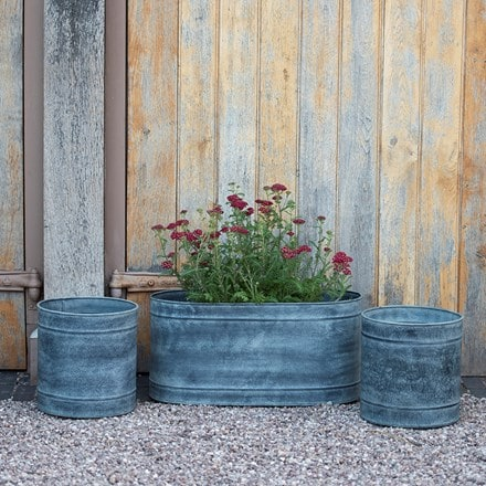 Planter and trough set