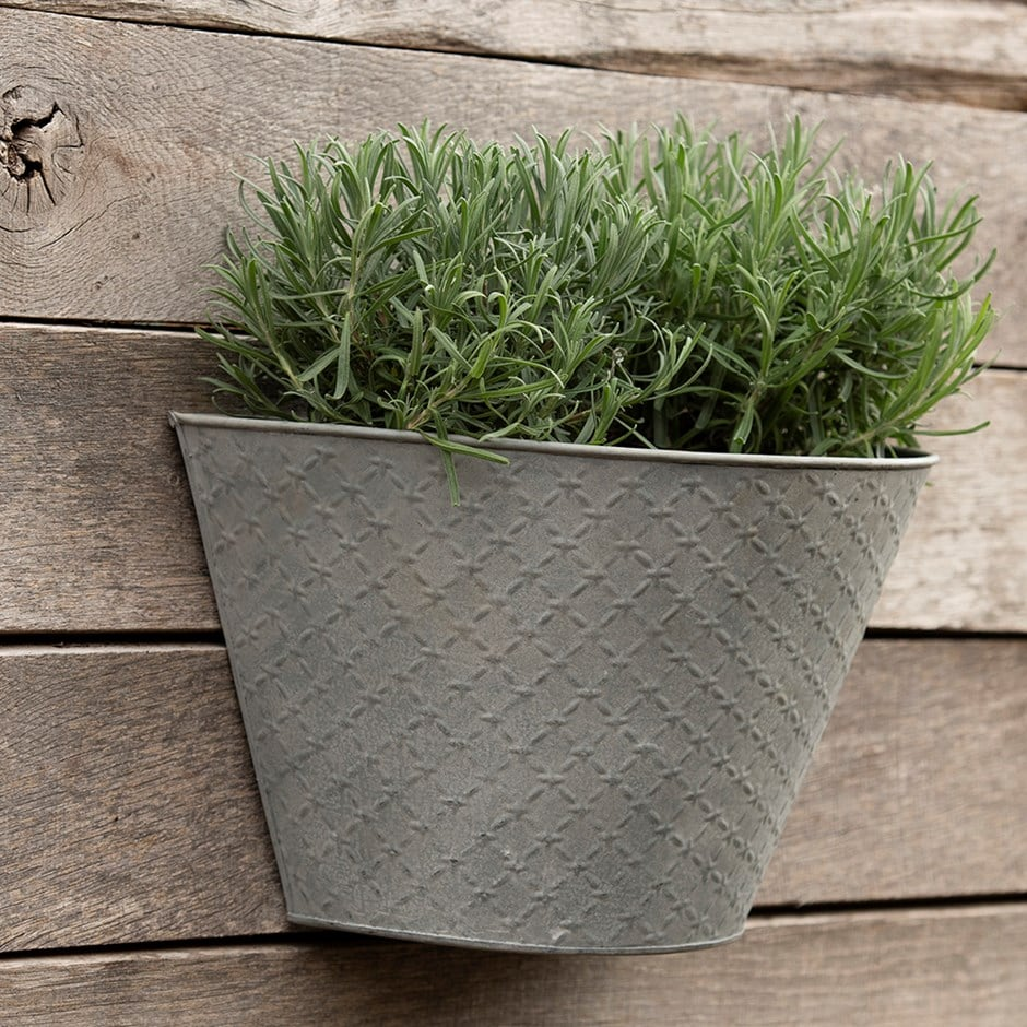 Buy Aged embossed wall planter Zinc Garden Planters Uk on zinc planter boackround on white, zinc garden statues, zinc bowls, zinc furniture, zinc window boxes,