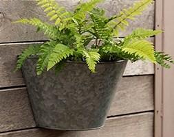 Galvanised wall planter