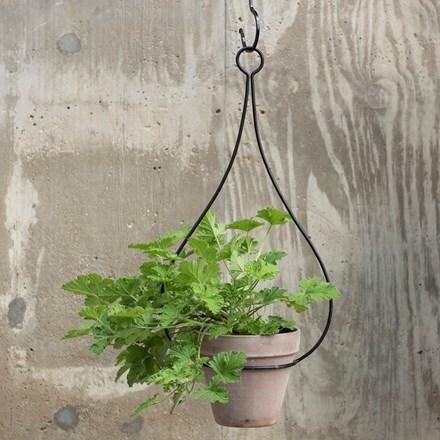 Hanging tear drop pot hanger