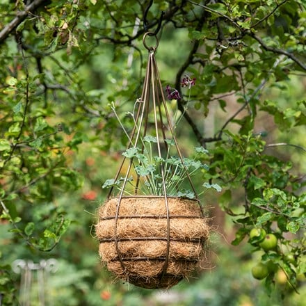 Hanging tear drop basket - slim