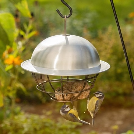 Birdie fat snax feeder ball - aluminium