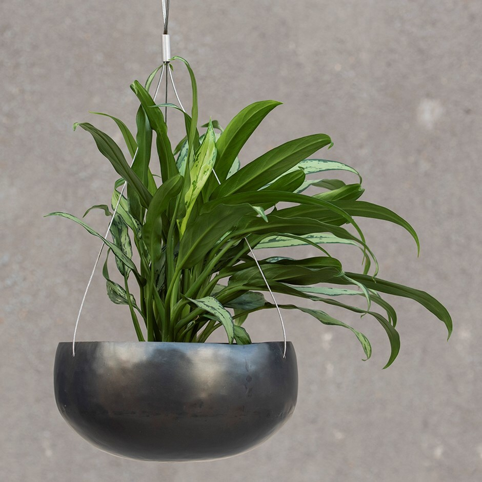Hanging zinc bowl - large