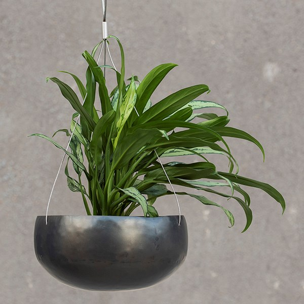 Hanging zinc bowl - large