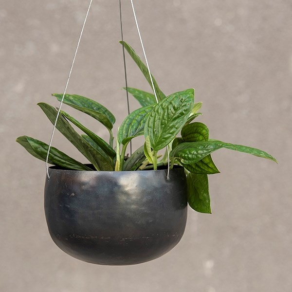 Hanging zinc bowl - small