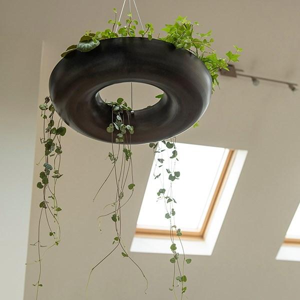 Hanging plant wheel