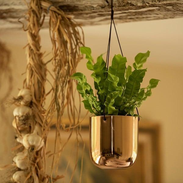 Hanging polished copper pot
