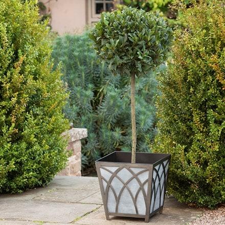 Houghton metal planter