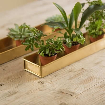 Brass metal tray