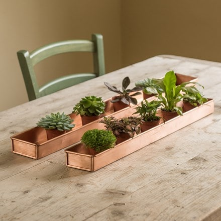 Copper metal tray