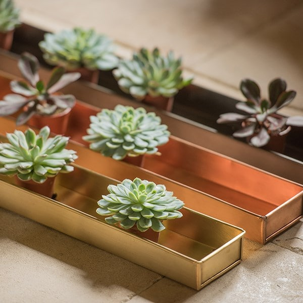 Brushed copper tray