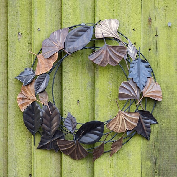 Autumn leaves wreath