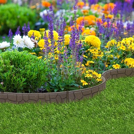 Recycled garden border ultra curve stones