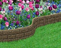 Recycled garden border ultra curve brick