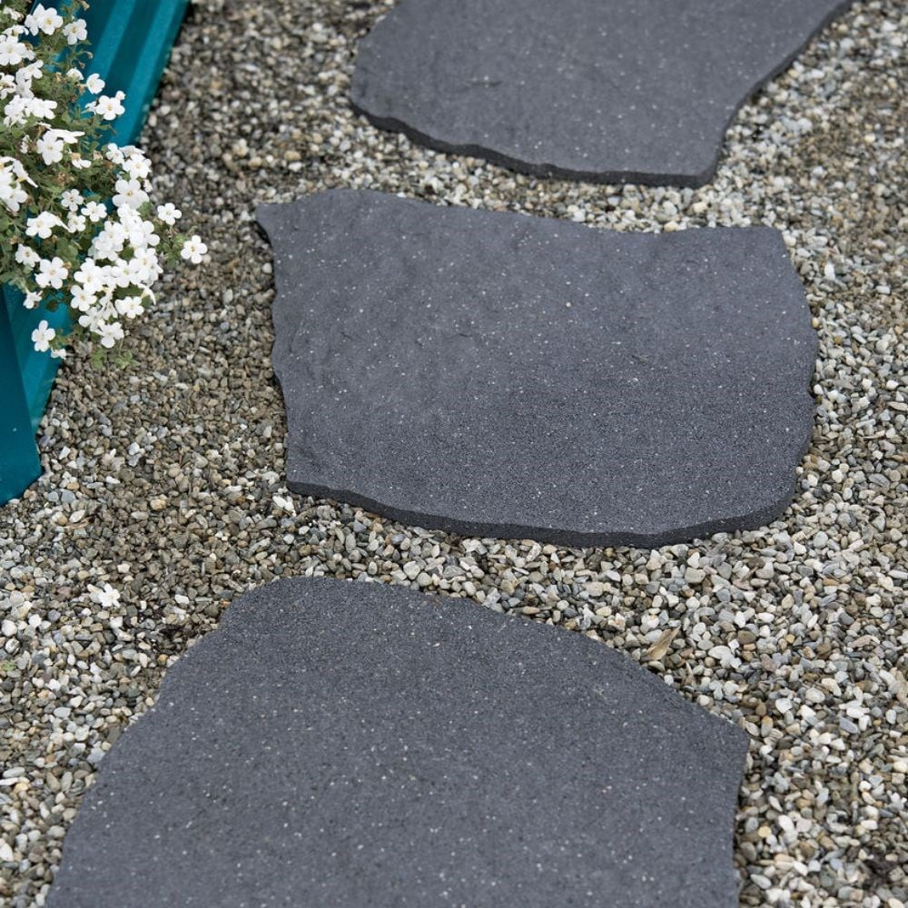 Recycled stepping stone natural
