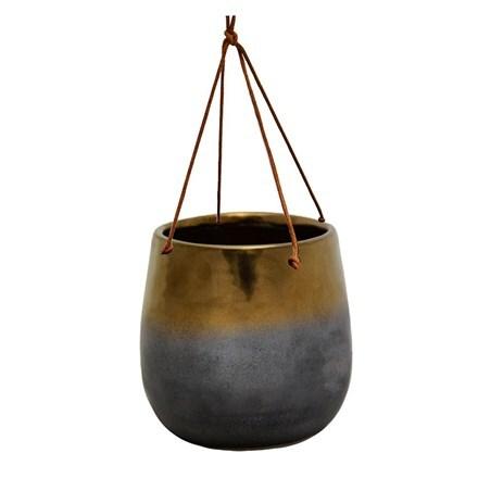 Torino hanging planter bronze