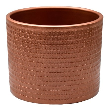 Embossed planter copper
