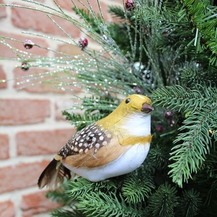 Natural feather partridge decoration
