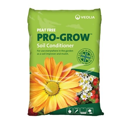 Veolia organic soil conditioner - pro-grow peat free 30 litre bags multi-buy