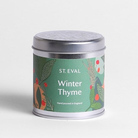 St Eval winter thyme candle tin
