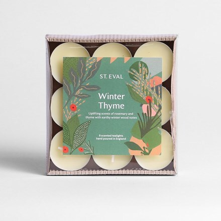 St Eval winter thyme tealights