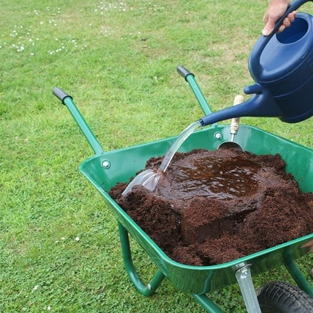Coir compost block