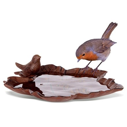 Old iron bird bath