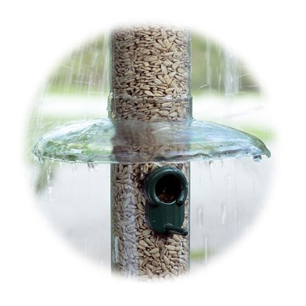 Rain away for bird feeders