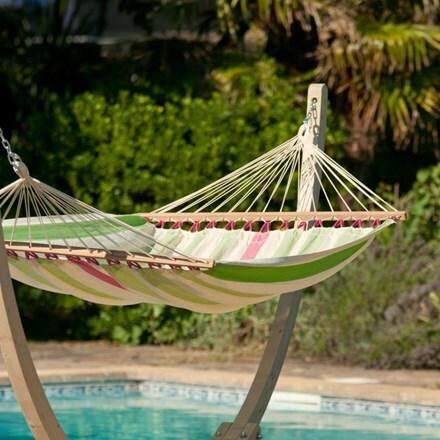 Double spreader bar hammock - kiwi