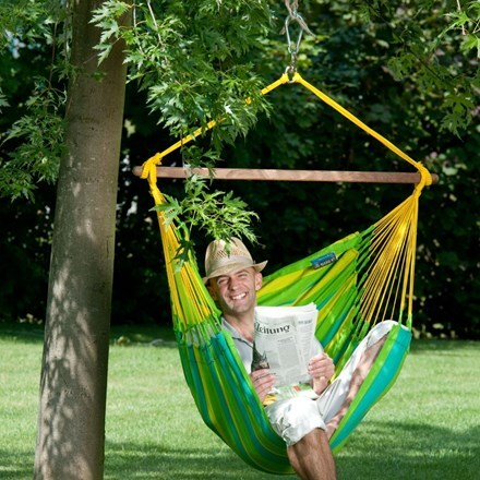 Hammock chair - lime
