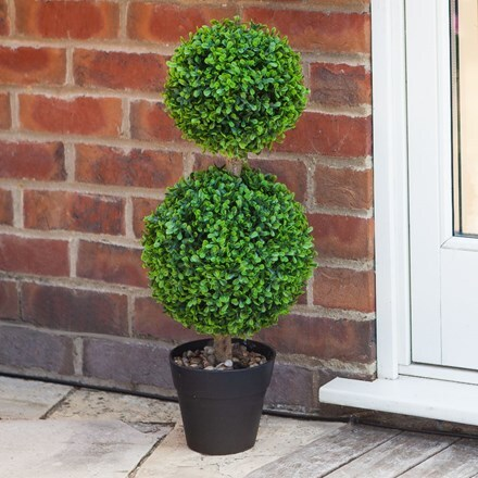 Artificial duo topiary tree 60cm