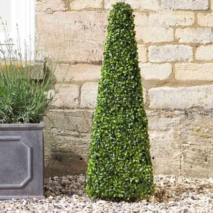 Artificial topiary obelisk 90cm