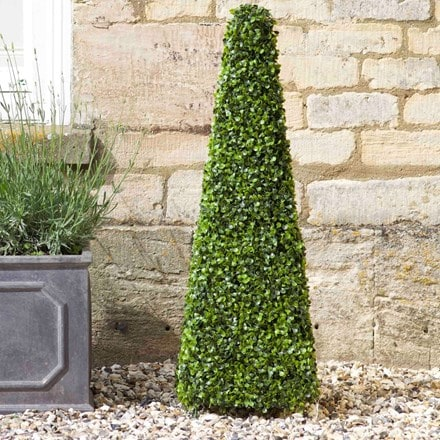 Artificial topiary obelisk 90cm