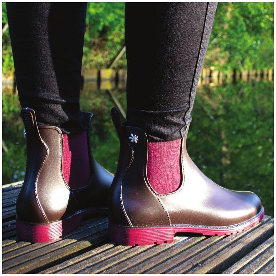 Jumpy Chelsea boot marron/bordeaux