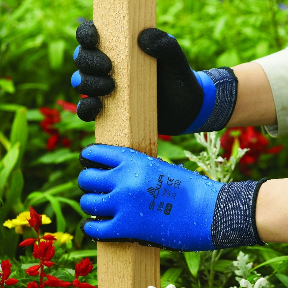 Showa water repellent gardening gloves 306