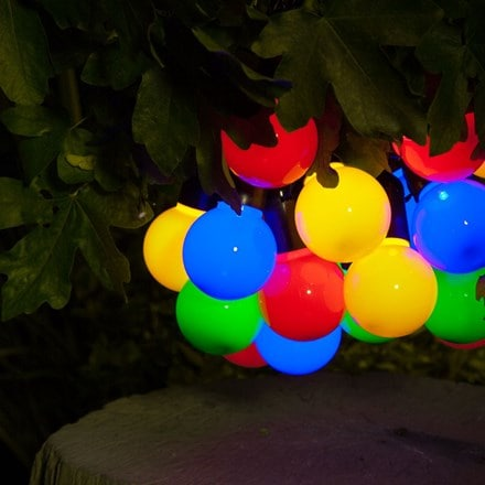 Solar multi colour festoon string lights