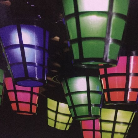 Solar multi colour lantern string lights