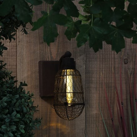 Rustic cage wall light