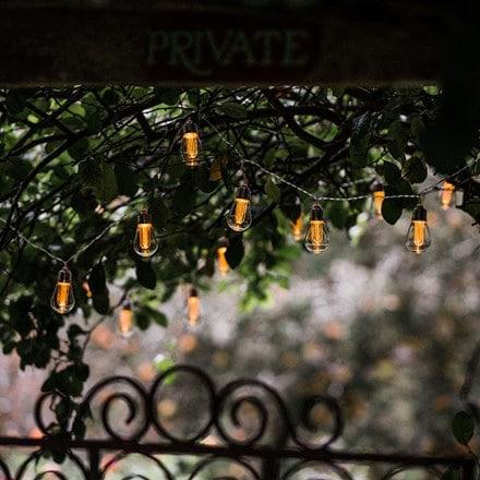 Connectable 10 Edison bulb string