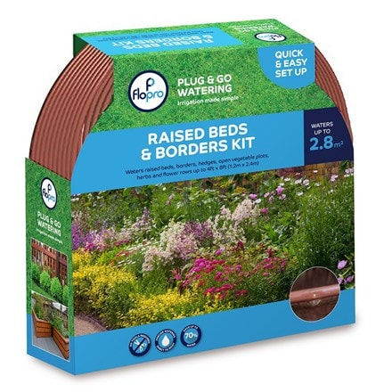 Flopro plug and go watering: raised bed and borders kit