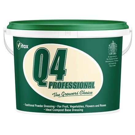 Vitax Q4 fertiliser 10kg powder tub