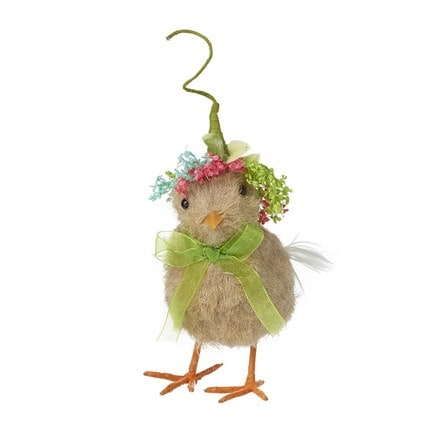 Chick with hat and ribbon necklace