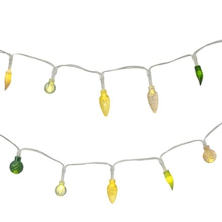 LED green and yellow garland