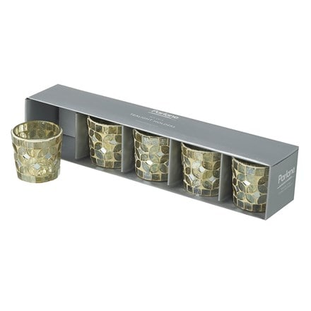 Mosaic tealight holder set