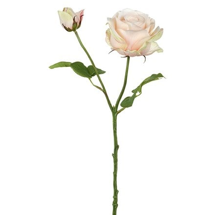 Artificial rose flower and bud